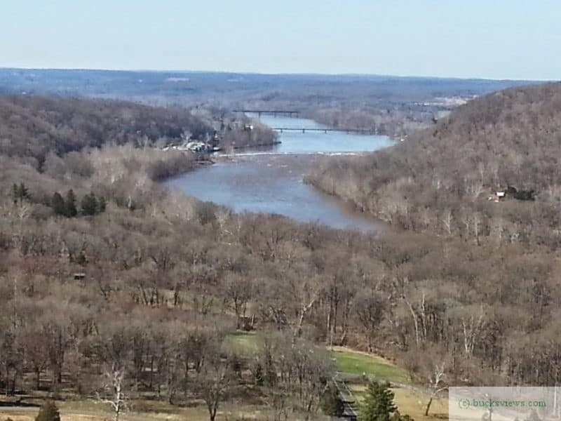 The view from Bowman's Tower just outside of New Hope