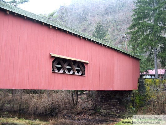 Uhlerstown Covered Bridge - Side view