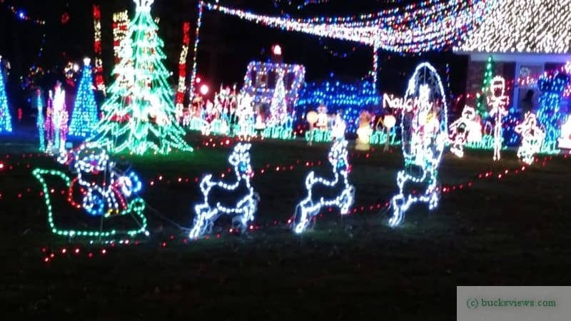 Christmas Light Display Huntingdon Valley 2017