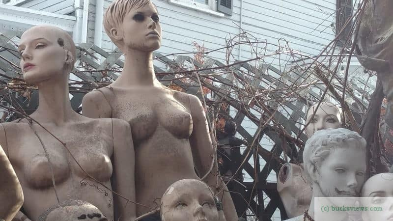Creepy Mannequins in New Hope - March 2018