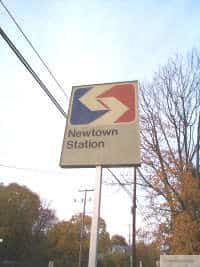 Sign at The Newtown Train Station