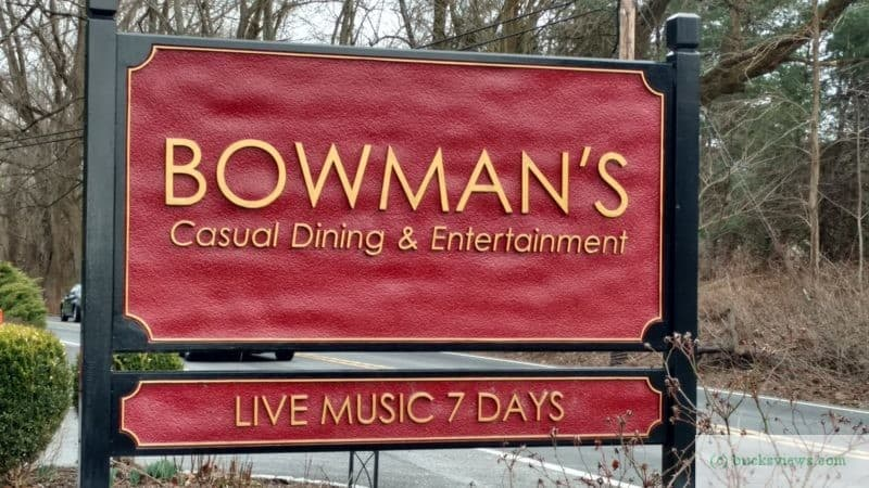 Bowman's Tavern New Hope - sign