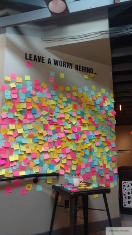 The Worry Wall at Ferry Market in New Hope, PA