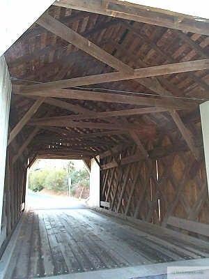 Erwinna Covered Bridge Interior
