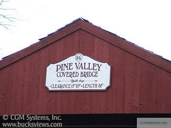 Pine Run Covered Bridge sign