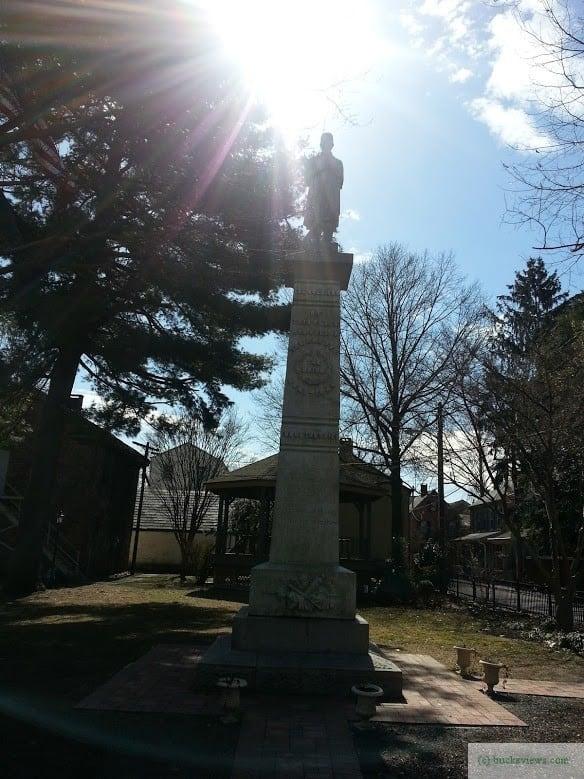 Civil War Obelisk in Lambertville
