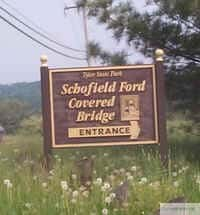 Schofield Covered Bridge Sign