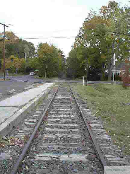 Tracks at the The Churchville Train Station