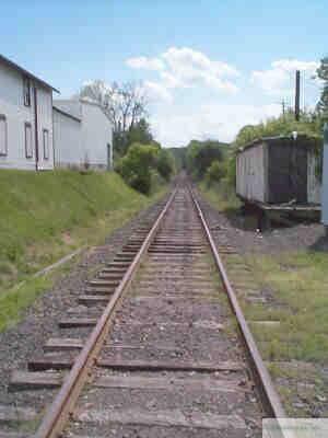 Tracks at the Rushland Station circa 2007