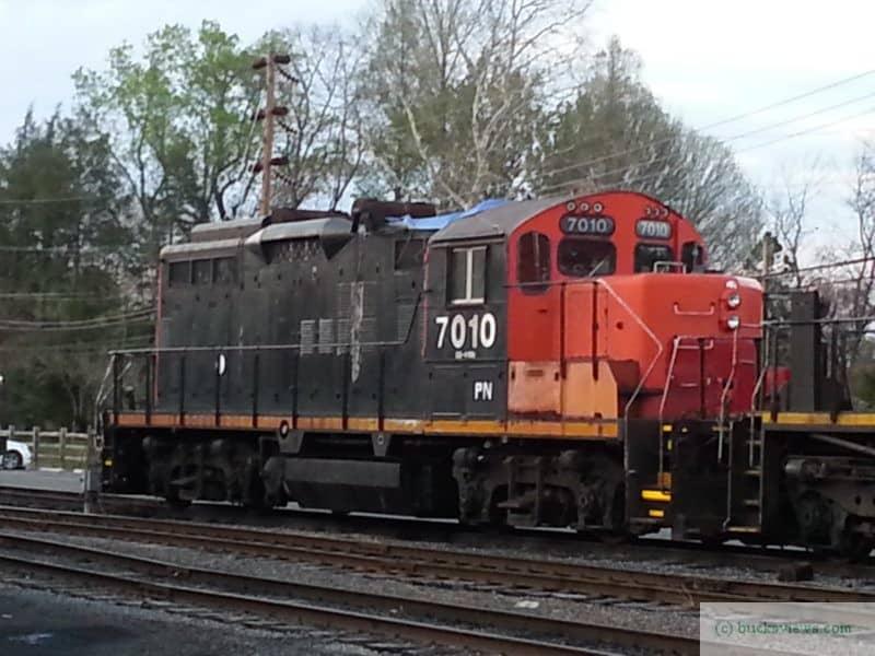 Engine 7010 at the New Hope Yard