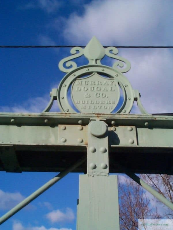 The Murray -Dougal Bridge in Point Pleasant - Inscription