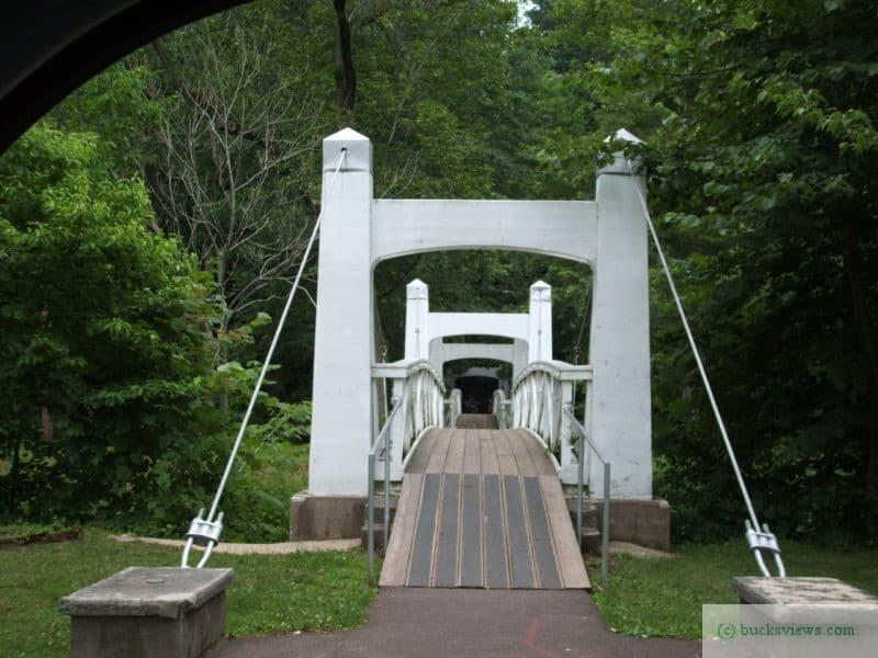 WPA Twin Bridges in Lenape Park in Perkasie PA