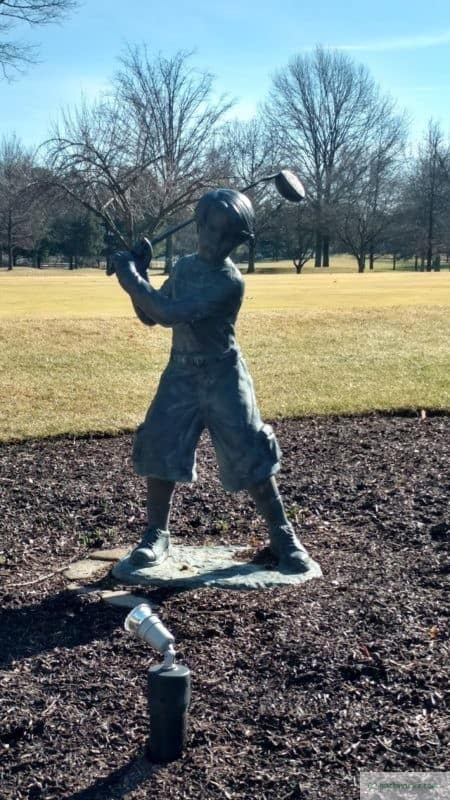 Golfer boy at the Spring Mill Country Club