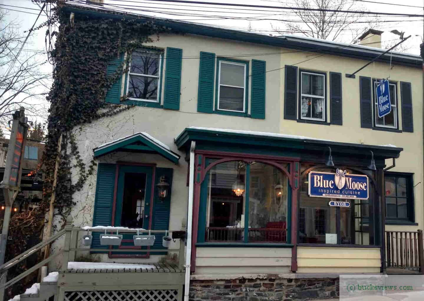 The Blue Moose Restaurant in New Hope