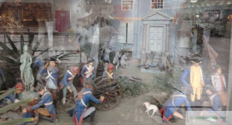 Battle of Germantown diorama in Neshaminy Mall