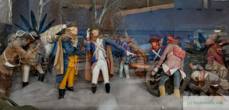 Washington Crossing the Delaware diorama in Neshaminy Mall