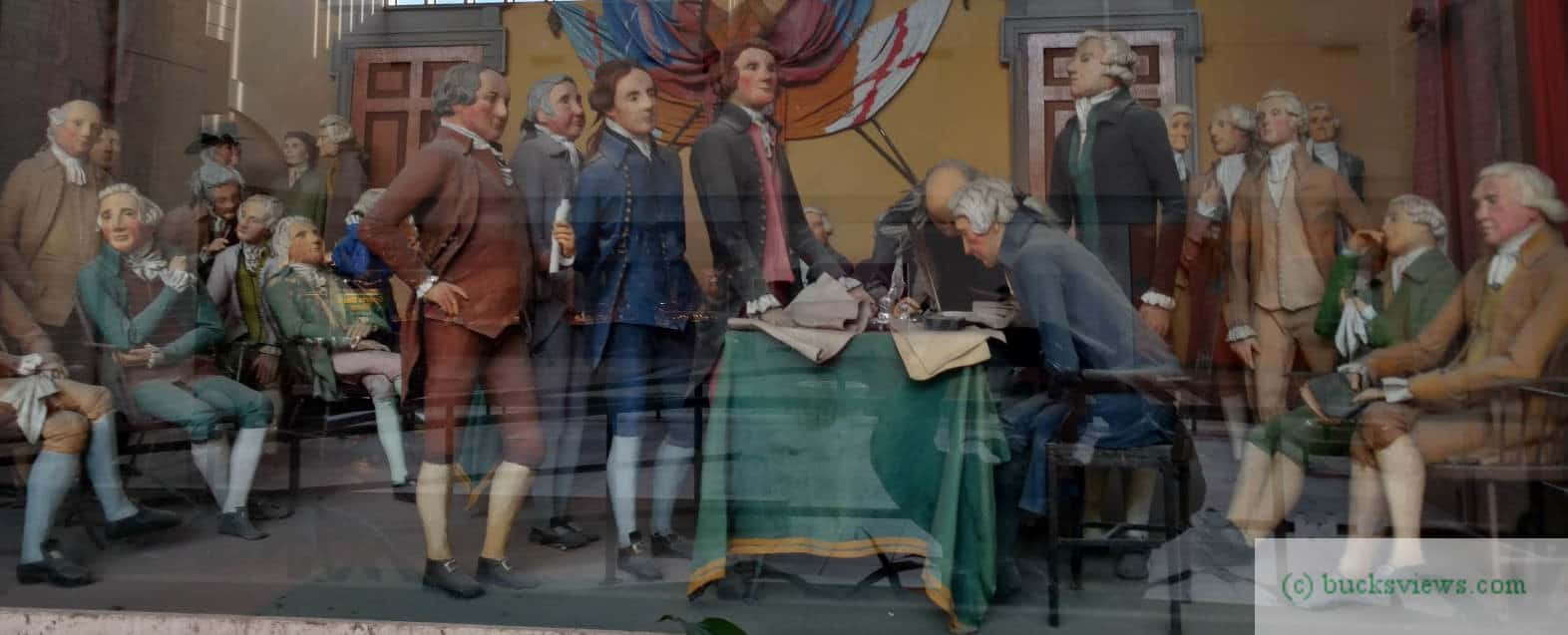 Signing the Declaration of Independance diorama in Neshaminy Mall