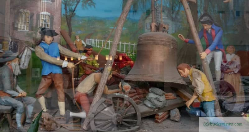 Moving the Liberty Bell diorama in Neshaminy Mall