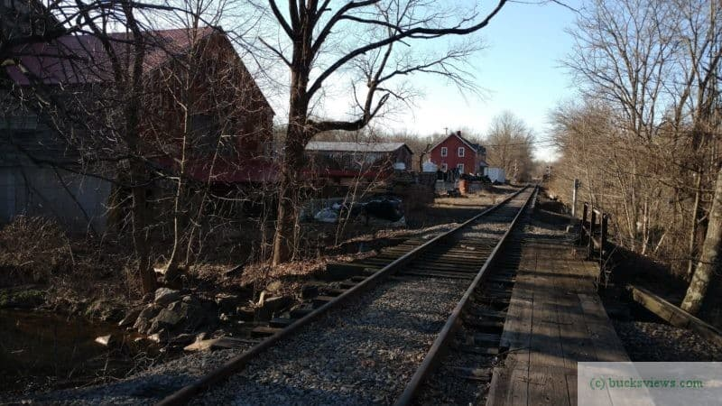 Tracks from the New Hope Ivyland Railroad near Histands in Wycombe