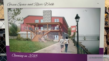 Proposed River Walk near the Bucks County Playhouse