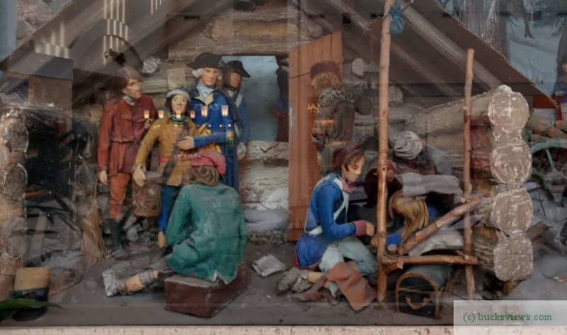 Washington at Valley Forge diorama in Neshaminy Mall