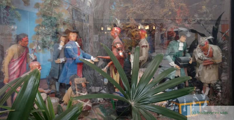 William Penn and Native Americans diorama at Neshaminy Mall