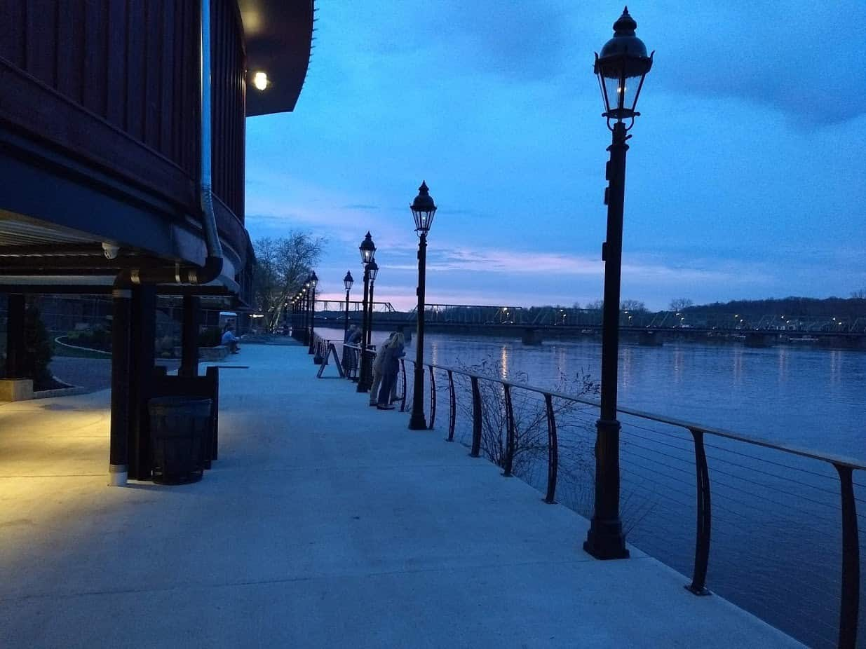 The Promenade behind the Bucks County Playhouse in New Hope PA