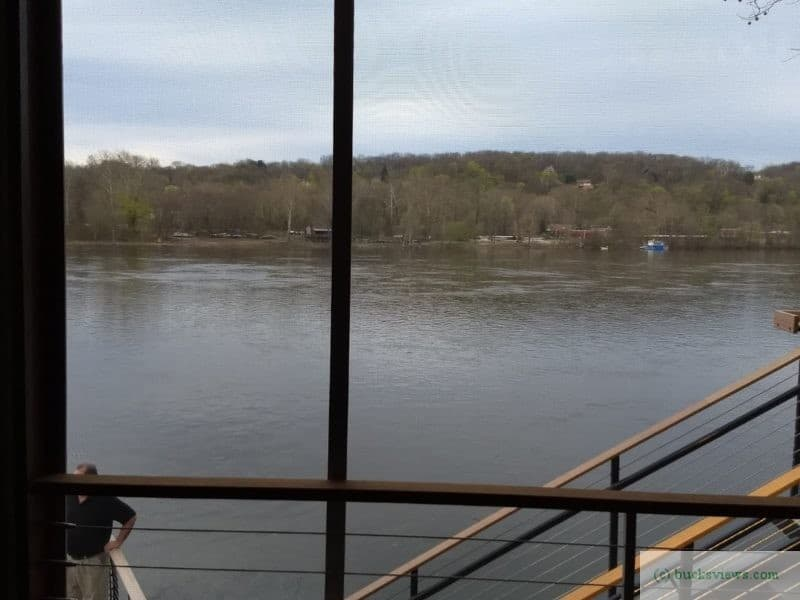 View of the Delaware River from The Deck Restaurant and Bar in New Hope, PA