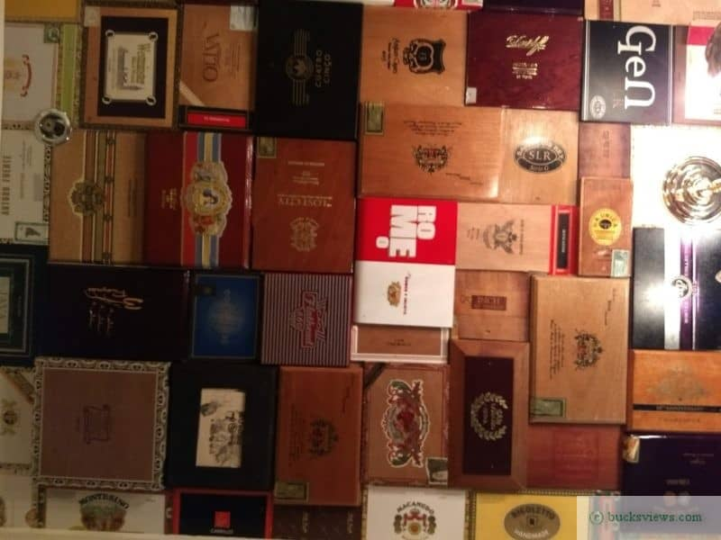 Cigar Box ceiling - The Hattery Stove and Still in Doylestown, PA