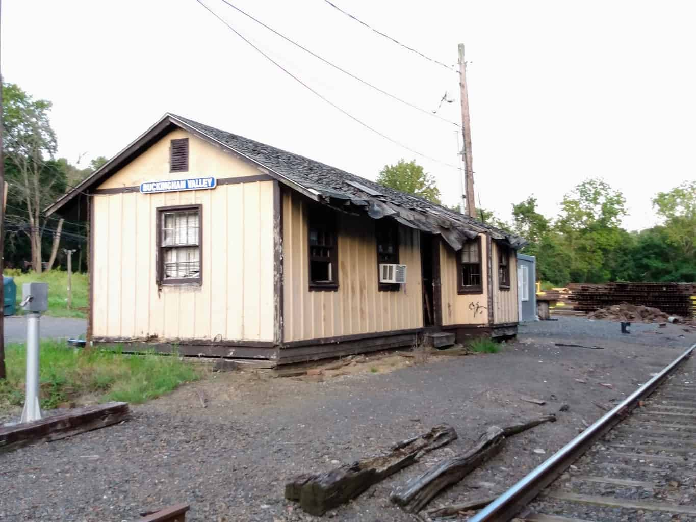 Buckingham Valley Station on the New Hope Railroad Line