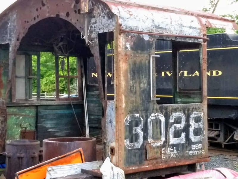 Derelict cab from engine 3028