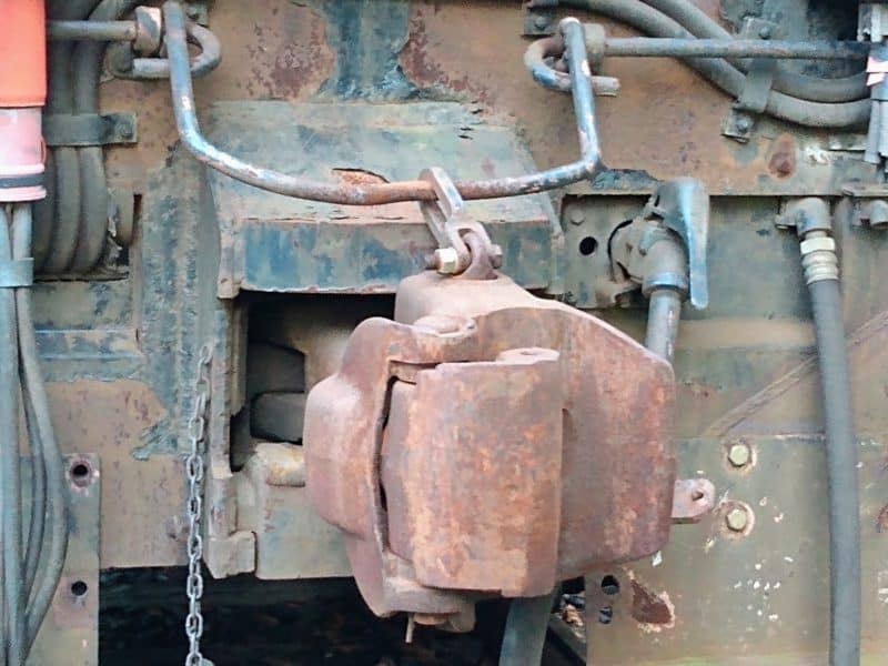 Coupler on  Engine 7210 from the New Hope Railroad