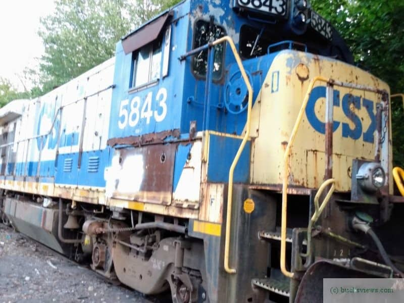 CSX 5843 on the New Hope Railroad Line -c