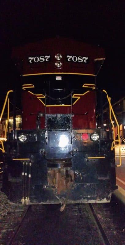 Engine 7087 - New Hope Station - Sept 2016
