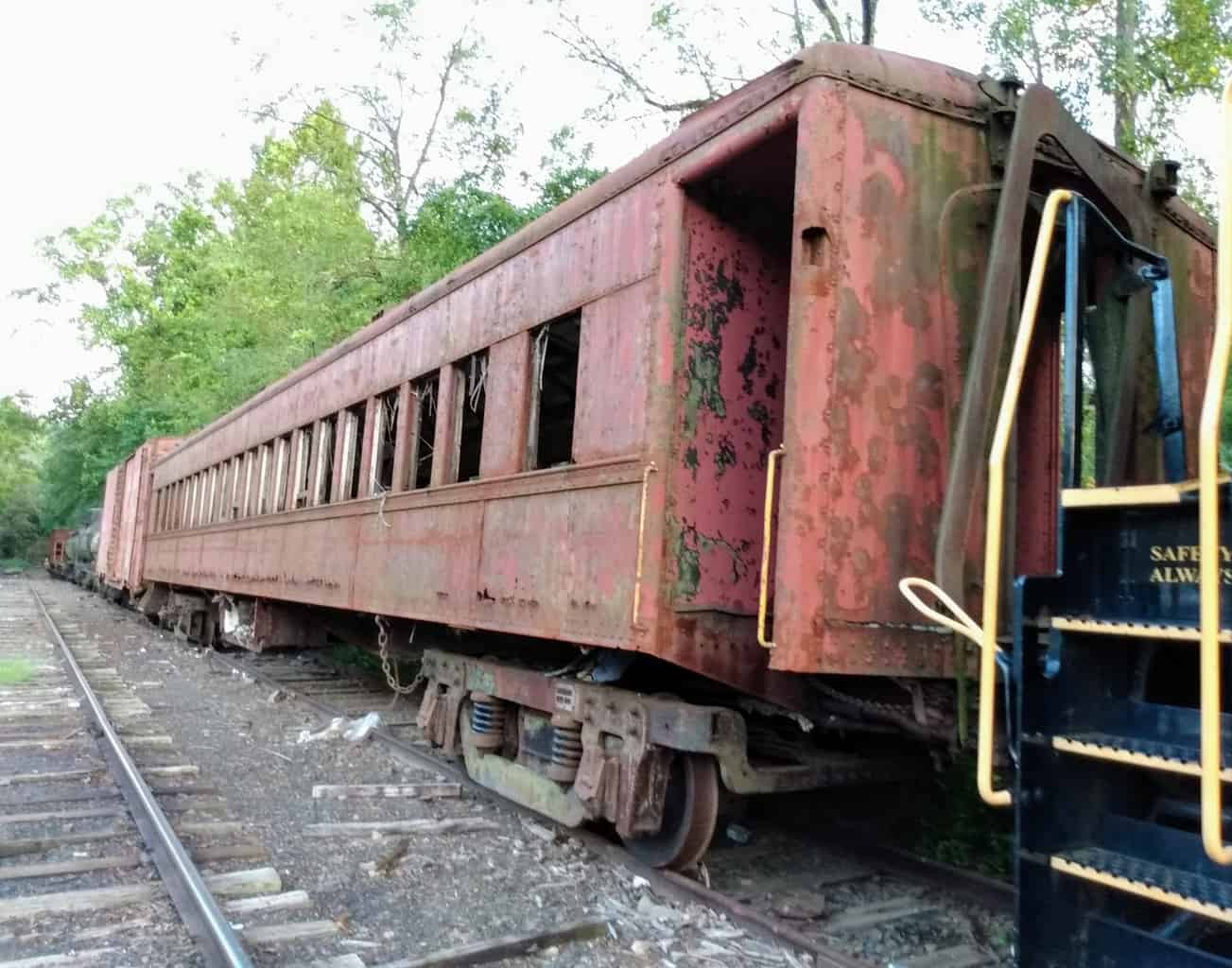 Old Reading Company Coach on a New Hope Railroad Siding