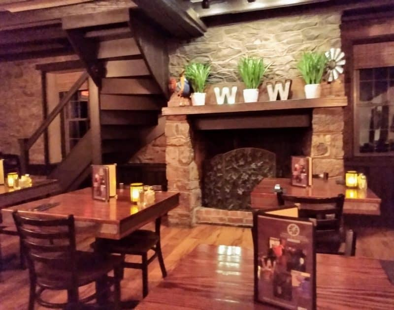 Fireplace at the Waterwheel Tavern