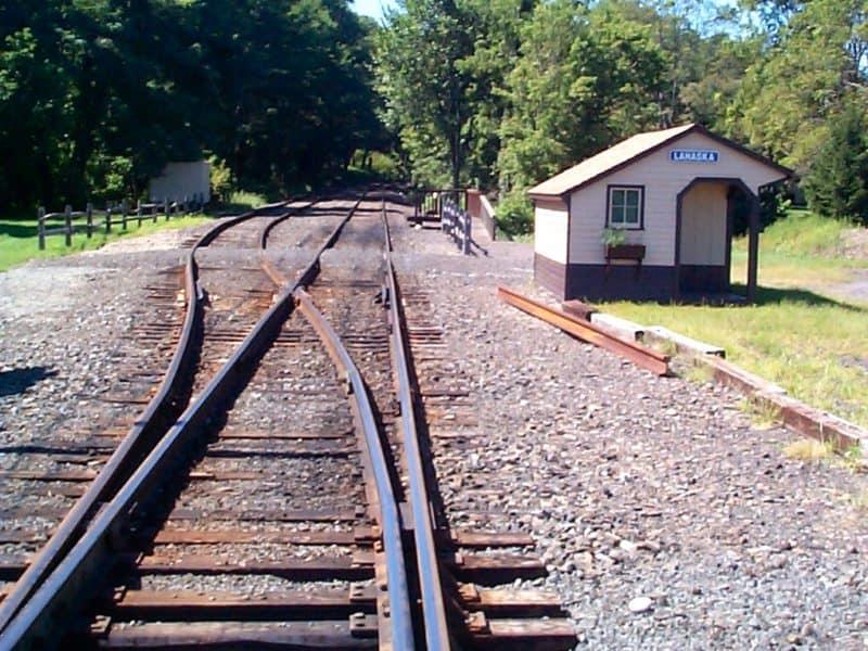 Lahaska Train Station, tracks and siding. Lahaska PA
