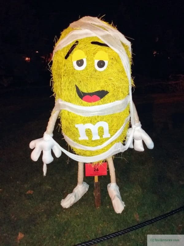 M and M candy scarecrow - Peddler's Village 2019