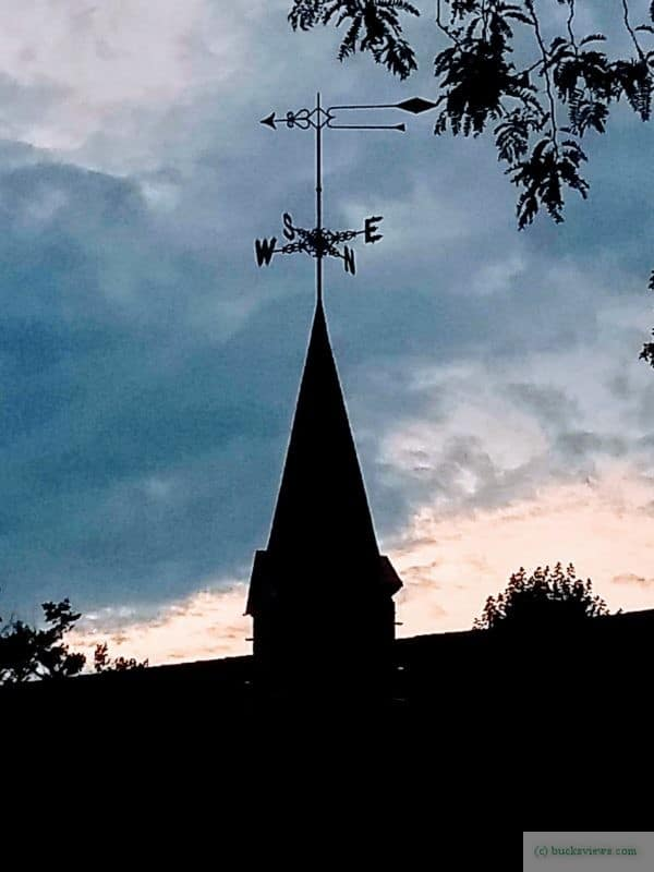 Steeple and weather vane