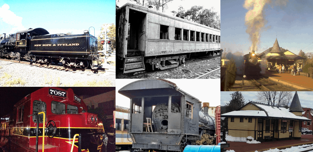 The New Hope Railroad - Steam and diesel train rides