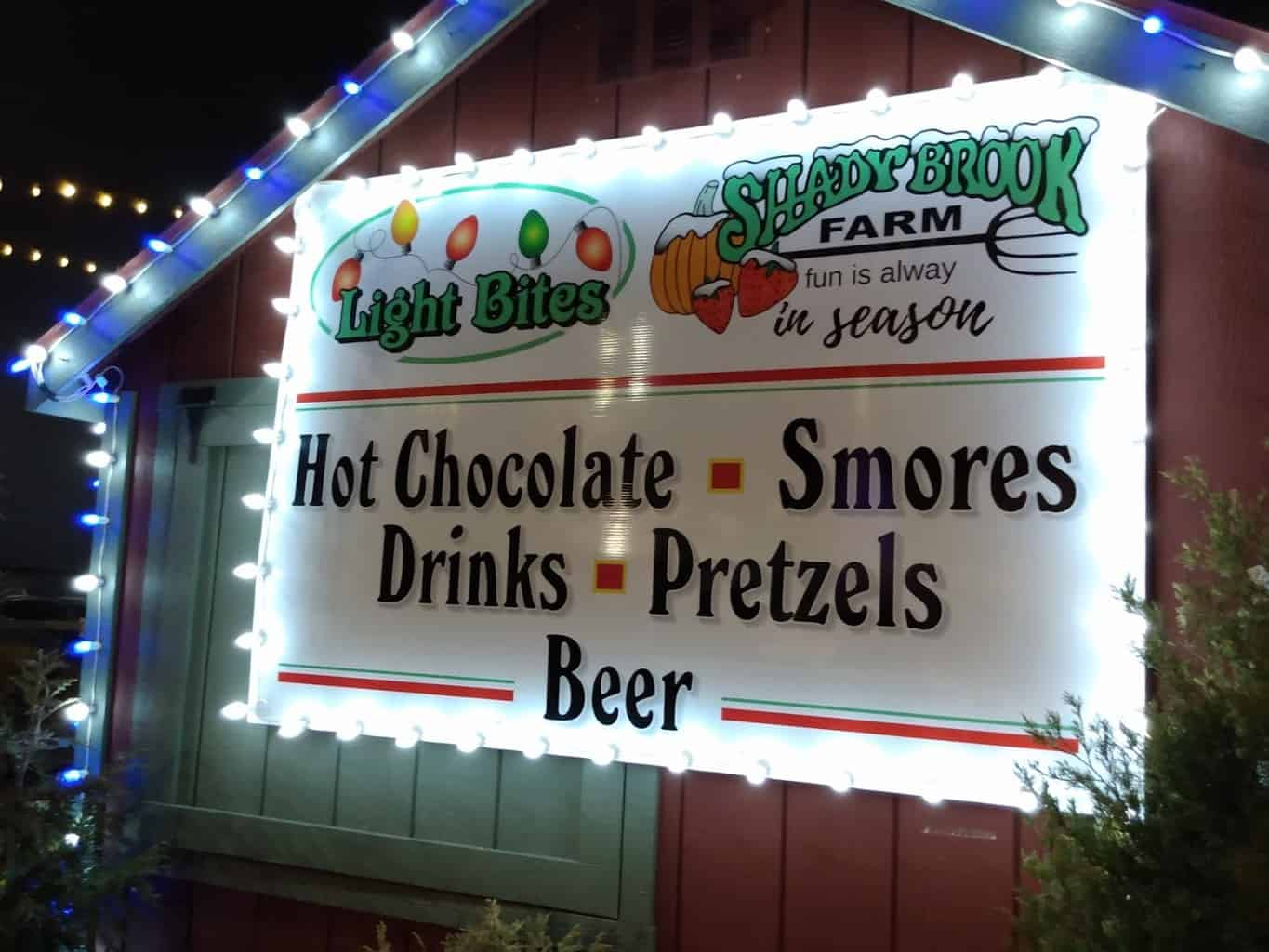 Hot Chocolate, Smores, Drinks, Pretzels and Beer at Shadybrook Farm
