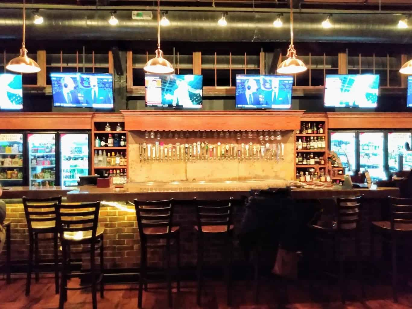 Bar at the Station Taphouse in Doylestown