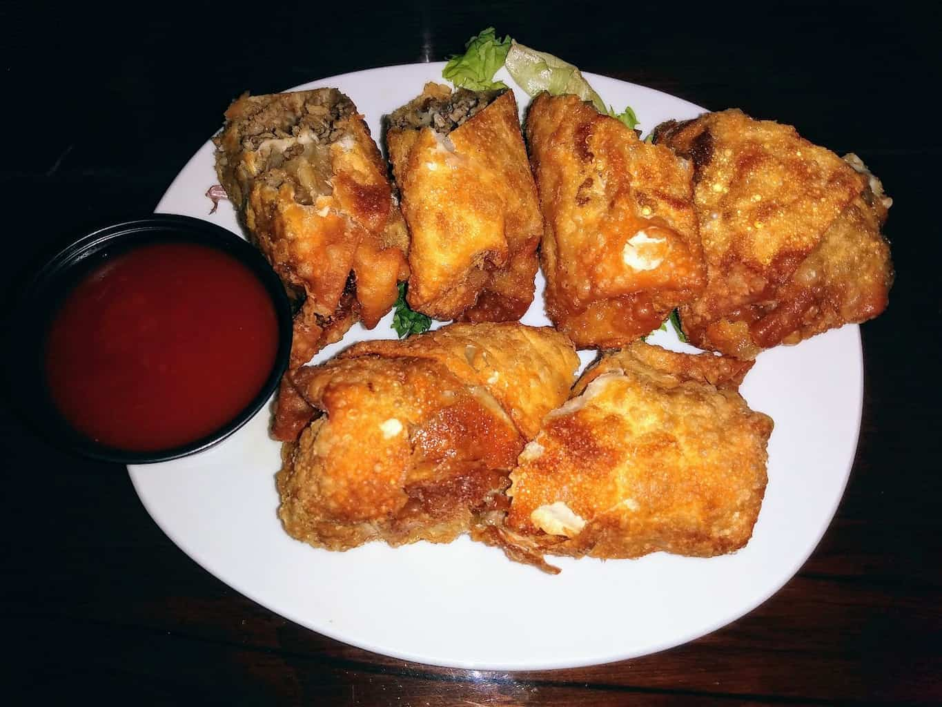 Cheesesteak Eggroll Appetizer at the Station Taphouse in Doylestown