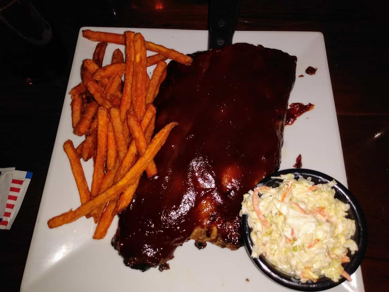 Half Rack of Ribs at the Station Taphouse in Doylestown