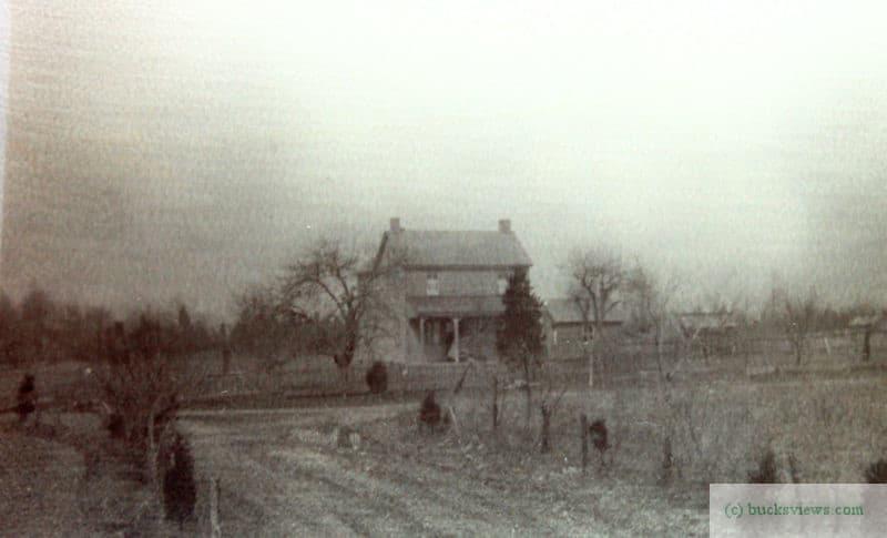 Old Farmhouse in Ottsville, circa 1920's