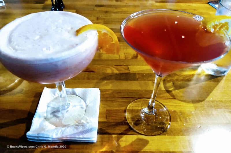 Blood Orange Cosmo and Frozen Margarita at the Iron Oven in Southampton