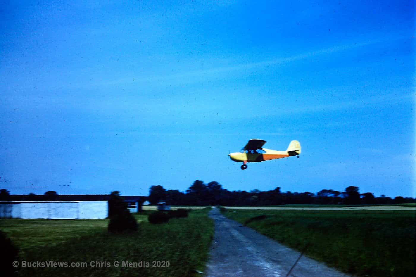 Plane landing - Buehl Field 1960's