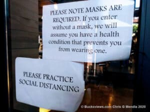 Masks are required but medical exceptions are assumed at the Ferry Market in New Hope