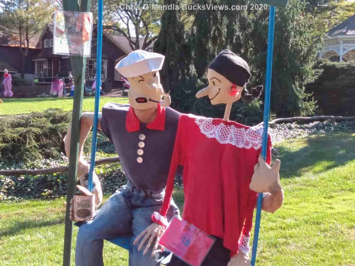 Popeye and Olive Oil - Scarecrow Festival 2020 Peddler's Village