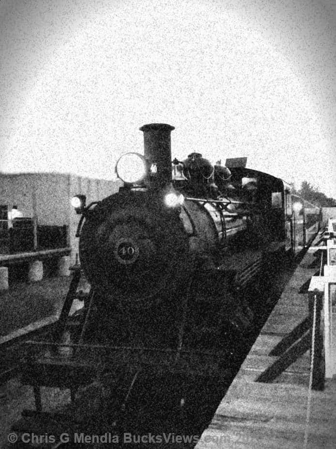 Steam Engine 40 Black and White - New Hope Station October 2020